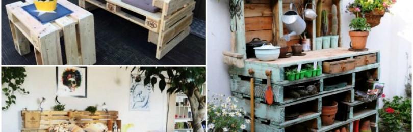 Как использовать деревянные поддоны на даче, интересные решения с фото