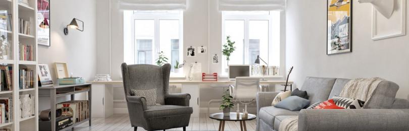 Скандинавский уют двухкомнатной квартиры