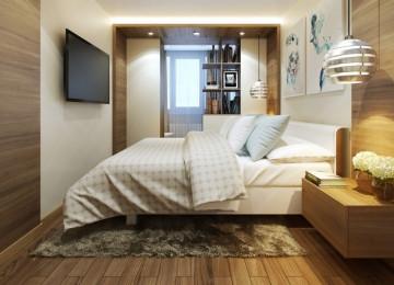 Кровать в маленькой спальне: нестандартные решения
