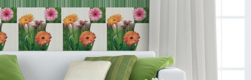 Обои с цветами герберы для интерьера