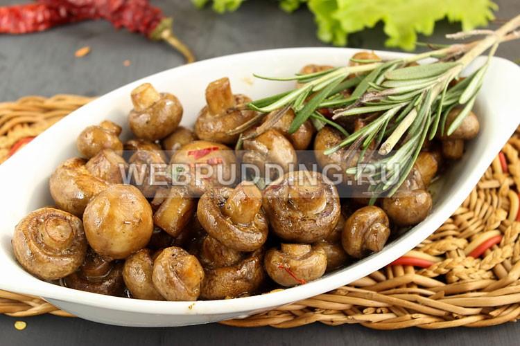 грибы запеченные в духовке фото