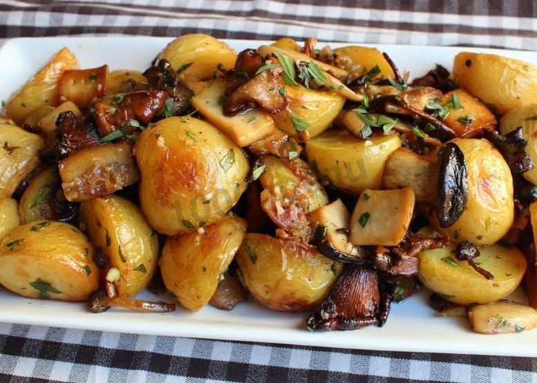 жаркое с грибами и картошкой в духовке